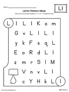 Letter D Pattern Maze Worksheet   Worksheets, Maze and Students