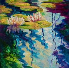 Water Lilies I Painting by Marion Rose