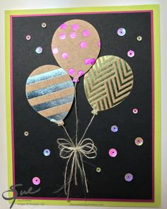 Stampin' Up! Birthday Balloons – Foil Frenzy | Stamp With Sue Prather