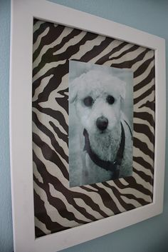 use fabric as background in pic frames...great way to tie a room/prints together