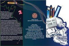 Brochure Designing of Design School on Adobe Illustrator