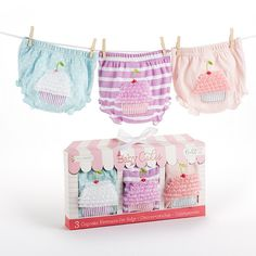 Baby Aspen Baby Cakes Set of Three Cupcake Bloomers Months Baby Girl Bottoms, Baby Aspen, Baby Favors, Baby Bloomers, Baby Memories, Baby Gift Sets, Diaper Covers, Newborn Baby Gifts, Our Baby