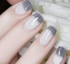 1 Bottle 6ml Color Changing Thermal Nail Polish Peel Off Polish Gray to White # 23804