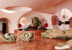 Le Palais Bulles by Antti Lovag for Pierre Cardin / South of France Architecture Design, Organic Architecture, Pavilion Architecture, Gothic Architecture, Ancient Architecture, Residential Architecture, Pierre Cardin, Bubble House, Retro Interior Design