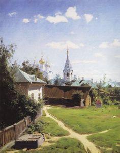 Vasily Dmitrievich Polenov (1844�1927)  Moscow Backyard. Turgenevskaya version, 1877  Oil on canvas  80.1x64.5 cm  The Tretyakov Gallery, Moscow, Russia