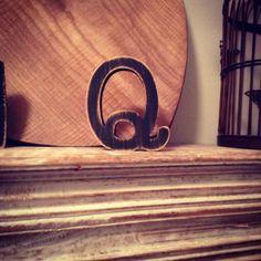 Hand-painted Wooden Letter Q Freestanding by LoveLettersMe
