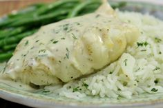 Poached Cod With Dill Sauce - Olga's Flavor Factory