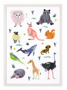 Human Empire Artist Series Animals Poster