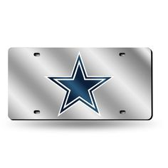 Large Rico NFL Dallas Cowboys Laser Cut Metal Hitch Cover Silver
