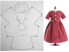 I pc. doll dress pattern
