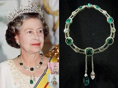 Inside Queen Elizabeth's Impressive Jewelry Box | DELHI DURBAR NECKLACE | The Delhi Durbar was India's answer to a coronation, a massive gathering to celebrate the succession of a new Emperor or Empress of India. And just like at a coronation, there are jewels aplenty – including this diamond-and-emerald necklace made for Queen Mary for the event.