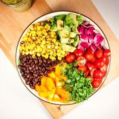 Vegan Southwest Salad with Creamy Avocado Chipotle Dressing   Home Sweet Jones