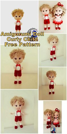 , Amigurumi Doll Curly Child Free English Pattern – Amigurumi Free Patterns : Ami…, Amigurumi toy models were very common until 30 years ago doll pattern free english Doll Amigurumi Free Pattern, Doll Patterns Free, Crochet Doll Pattern, Amigurumi Doll, Crochet Dolls, Crochet Patterns, Cupcake Dolls, Doll Videos, Child Doll