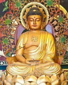 credits siddhartha_gautama__ #massage #méditation #chakra #meditation #yoga #buddhism #quotes #méditation du matin #reiki #musique méditation #méditation photography #méditation profonde #méditation transcendantale #méditation spirituelle  #sommeil #buddha #tibet #buddhist #méditationyogadébutant #meditationwear #meditation music #MeditationMusic #spirituality #awakening #environement #relaxation #spa #pinterest #light #calm Buddha Kunst, Buddha Zen, History Of The Swastika, Thailand Pictures, Reiki, Amitabha Buddha, Gautama Buddha, Temple Thailand, Chinese Buddha