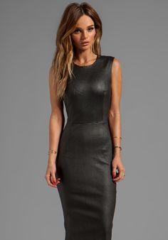 BY MALENE BIRGER Funky Nappy Maluba Leather Dress in Black
