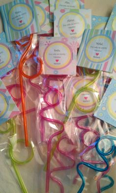 """Valentine, You Make Me Loopy! All At Walmart: Loopy Straws In The Birthday Supply Isle, 6 For .97, Pretzels Bags By The Wilton Cake Supplies, Scrapbook Paper, Avery Round 2"""" Labels In Office Supply."""