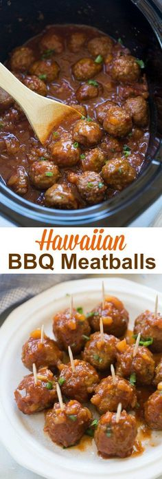Hawaiian BBQ Meatballs make the perfect fun, easy party appetizer or you can enjoy them as a main dish, served over rice. Make them in the Slow Cooker OR on the Stovetop. via appetizers meatballs Hawaiian BBQ Meatballs (Slow Cooker or Stovetop) Slow Cooking, Appetizers For Party, Appetizer Recipes, Meatball Appetizers, Easy Party Recipes, Recipes Dinner, Slow Cooker Appetizers, Delicious Appetizers, Christmas Eve Dinner