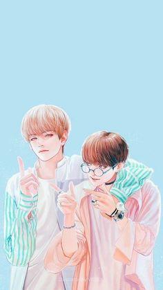 FanArt y Fotos Taekook - vkook Vkook Fanart, Fanart Bts, Jungkook Fanart, Bts Bangtan Boy, Taekook, Boy Band, Vkook Memes, Kpop Drawings, Love Is