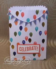 Angela Lorenz: Occasions Catalogue 2015 - Celebrate Today, Balloon Framelits Die, Birthday Bash Designer Series Paper, Mini Treat Bag Thinlits, #stampinup