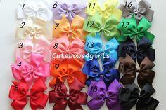 12 Big hair bows   Girl hair bow  Toddler hair by cutebows4girls, $24.00