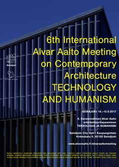 The Alvar Aalto Academy is an international discussion forum for environmental culture particularly modern architecture, product design, plus relevant research and training. Alvar Aalto, Event Organization, Contemporary Architecture, Product Design, Foundation, Training, Events, Culture, City
