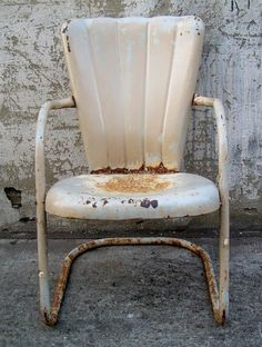 Retro Metal Lawn Chair Vintage Porch by TheArtifactoryStudio, $75.00