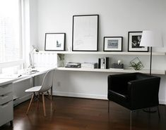 My continuous ikea lack shelves más ikea mangel, home office design Mesa Home Office, Home Office Space, Home Office Desks, Home Office Furniture, Pipe Furniture, Furniture Vintage, Office Spaces, Work Spaces, Furniture Ideas