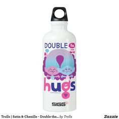 Trolls | Satin & Chenille - Double the Hugs Aluminum Water Bottle
