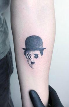 Cool Charlie Chaplin Tattoo