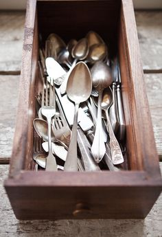 something about old cutlery....when I was younger I wanted 'new' - but now I realise the beauty in these old things