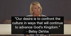 "Theocracy alert: Betsy DeVos is a radical Christian extremist who wants to use American schools to advance ""God's kingdom."""