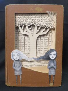In A Dream I Dreamt I Was Ligeia By Valerie Savarie Paper Book, Paper Art, Cut Paper, Book Page Crafts, Altered Book Art, Book Projects, Clay Projects, Book Folding, Handmade Books