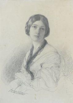 Portrait de la Baronne Gudin, née Margareth Louis Hay by Franz Xaver Winterhalter
