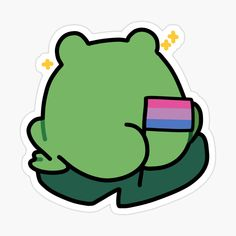 Kawaii Stickers, Laptop Stickers, Cute Frogs, Aesthetic Stickers, Gay Pride, Lgbt, Gift Ideas, Art Prints, Printed