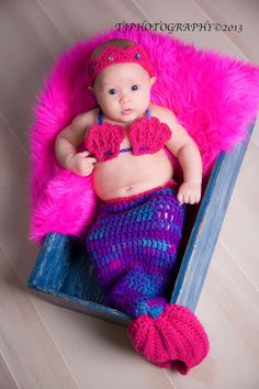 3pc Mermaid outfit costume....photo prop  sz by DesignsbyKieshia, $30.00