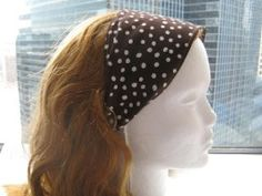 how to make a wide headband out of fabric   ... tutorial on her blog showing how to make a wide fabric headband they
