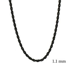 Black Rhodium Rope Chain