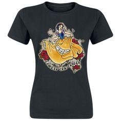 Schneewittchen - Fairest One Of All  - Front bedruckt - Ausschnitt: Rundhals - Passform: Normal geschnitten  Wer liebt Walt Disney denn nicht? Alice im Wunderland, Arielle oder auch Schneewittchen: Walt Disney weiß einfach wie man wunderschöne Geschichten erzählt. Bei uns bekommt ihr das passende Girl-Shirt zu Schneewittchen. Auf dem Shirt ist Schneewittchen höchstpersönlich aufgedruckt.