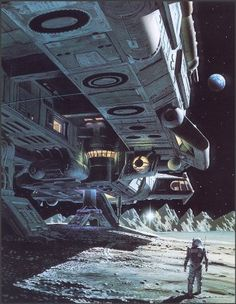 on the moon ~ #spacecraft #scifi #sciencefiction