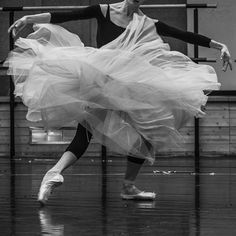"Flowers II © Anne Deniau Paris Opera Ballet ""La Sylphide""  Amandine Albisson in La Sylphide rehearsal"