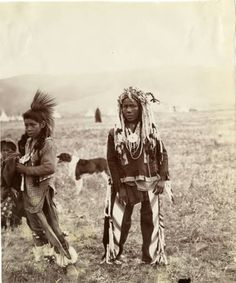 Flathead and Blackfeet boys, names, date and location unknown. UM-Photo Archives
