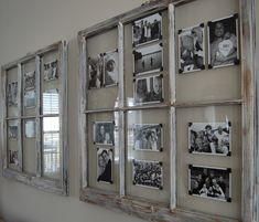 I like the old windows as picture frames..