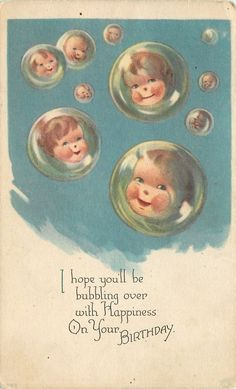 Charles Twelvetrees~Baby Faces in Floating Bubbles~Hope Your Bubbling Over~1920s