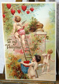 victorian valentines   Victorian Cupids Valentine