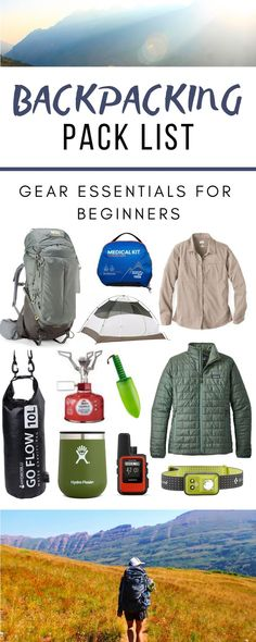 Backpacking Pack List: Gear Essentials For Beginners Being prepared and comfortable on a backpacking trip makes all the difference in getting to enjoy your expereince. This is the essential gear you need and that we carry with us for a backpacking trip. Backpacking Packing List, Backpacking For Beginners, Ultralight Backpacking Gear, Packing Lists, Beginner Camping, Backpacking Backpacks, Trekking Gear, Lampe Camping, Camping Bedarf