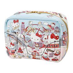 Hello Kitty Pouch Cosmetic Bag Amusement Park SANRIO JAPAN