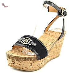 Tommy Hilfiger Hesley Femmes US 5.5 Noir Talons Compensés - Chaussures tommy hilfiger (*Partner-Link)