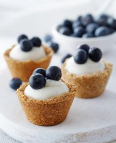 Blueberry coconut custard tarts