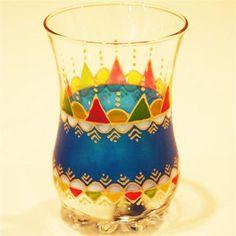 ミントティーグラス【マグレブブルー】 - モロッコ雑貨のお店【Arabian Garden】