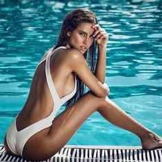 Donna Pezzo Unico fascia Bikini Push Up Costume intero da bagno